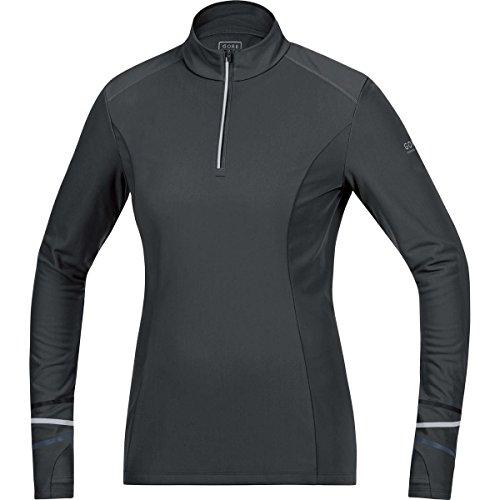 Gore Running Wear Damen Warmer Thermo-Langarm-Lauf-Jersey, GORE Selected Fabrics, MYTHOS LADY 2.0 Thermo Shirt long, Größe 40, Schwarz, SMYTTL (Thermo Lauf Shirt)