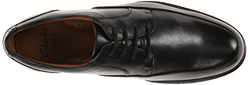 Clarks Gabson Schürze Oxford Black Leather