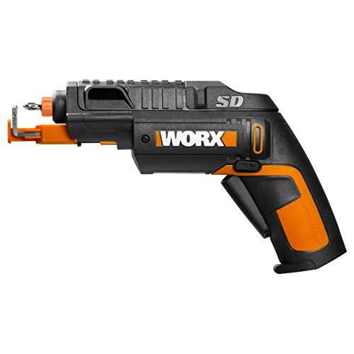 WORX WX255 Akkuschrauber mit automatischem Wechsel des Bit-Magazins & optionalem Schraubenhalter für schnelles, müheloses Schrauben - 4V Schrauber mit Li-Ion Akku inkl. 5 Bits & 1 Vorbohrer