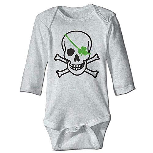 Irish Baby-outfits (MSGDF Unisex Toddler Bodysuits Irish Skull Customized Baby Babysuit Long Sleeve Jumpsuit Sunsuit Outfit Ash)