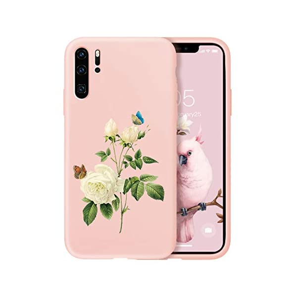Oihxse Compatible with Huawei P20 Case Cover with Design, Soft TPU Back Shell [Anti-Slip] [Anti-Fade] [Support Wireless Charging] Slim Fit Pink Matte Texture Protective Bumper Skin-White Rsse Oihxse 🦜【Ultra-Thin & Slim Fit】Ultra-Slim design snugly fit for your Huawei P20 to bring [Sleek Look], [Stylish Charming] and [Great in-hand Feeling] due to the process with matte finish compliment with fashion pattern on the mobile phone case back-pink colour. 🦜【Support Wireless Charge】With precision cutouts of the Huawei P20, you can easy access to headphone jack, charger port, key mute, speakers, audio ports and buttons without the interference of [WiFi Reception], [Signal Reception], [Wireless Charging Performance], etc. 🦜【Anti-Fingerprint & Non-Fade Material】Crafted with soft anti-yellowing and non-fade TPU material with red frosted finish to provide you fingerprint resistant, anti-slip, daily scratches, bumps, drops and other daily damages. 1