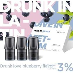 Mondains Cigarette Électronique De Fumée Atomiseurs Cigarette Électronique Kit Vapeur Chargeur Portable Blueberry * 3