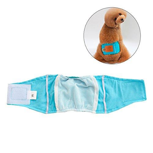 UEETEK Pet Pañal Sanitario Pantalones Fisiológicos Lavables Pantalones Cortos para Perros Bragas Menstruación Ropa Interior Talla M