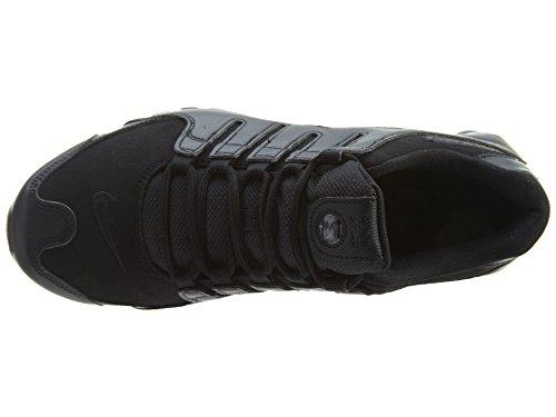 Nike Mens Shox Nz Premium Mesh Trainers Black/Chrome