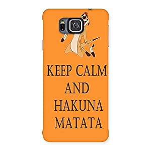 Gorgeous HKN MTT Orange Back Case Cover for Galaxy Alpha