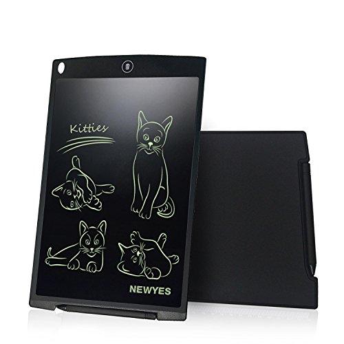 Tavoletta LCD da Disegno 12 Pollici - NEWYES NYWT120- Memo Pad Grande Taglia da Ewriter LCD per Tablet da Tavoletta Grafica Compreso 1 Pennino 2 Magnete(Nero)