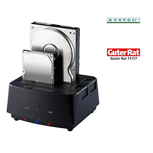 "Xystec HDD Dockingstation: Klon-Festplatten-Dock für 2,5""- & 3,5\""-SATA-HDDs & -SSDs, USB 3.0 (Festplatten Dockingstations)"