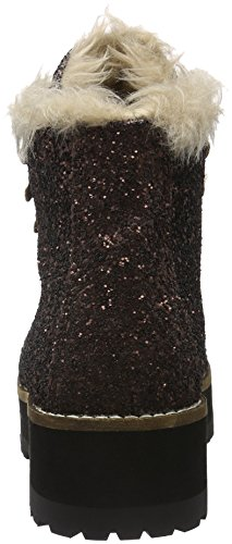 Buffalo 15B69-1 GLITTER, Bottes courtes avec doublure chaude femme Marron - Marron (bronze)