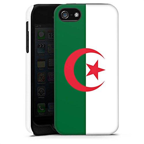 Apple iPhone X Silikon Hülle Case Schutzhülle Algerien Flagge Fußball Tough Case matt