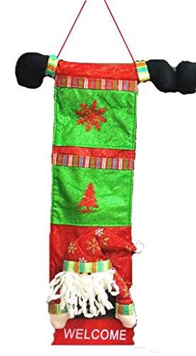 YiyiLai Sac Suspendu Rangement Sachet 70*36cm Poche Stockage Cadeau Noël Suspension Porte Père Noël