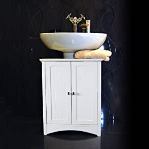 White Under Sink Bathroom Storage Cabinet: Amazon.co.uk ...