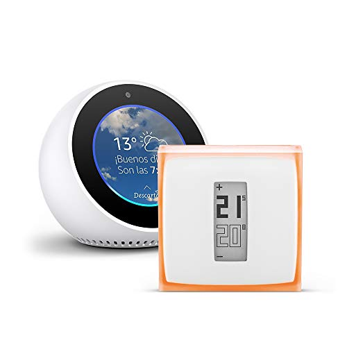 Amazon Echo Spot, blanco + Netatmo Termostato Inteligente