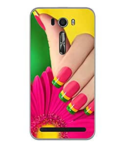 PrintVisa Designer Back Case Cover for Asus Zenfone Selfie ZD551KL (Manicure Hand Spa Cosmetics Skin Fingernail Wallpaper)