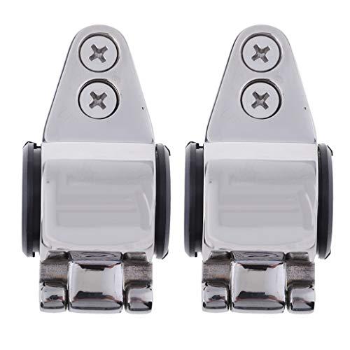 B Blesiya 2-teilige Bimini-Top-Beschläge Eisenwaren Edelstahl-Backenschieber Geeignet für 20mm 22mm 25mm 4/5
