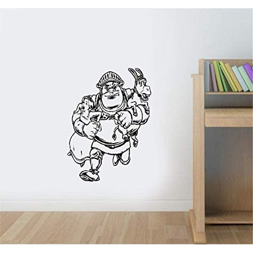 etiqueta de la pared pegatina de pared frases Shrek Princess Fiona Kids Cartoon Sticker Interior Inicio Habitación para… 2