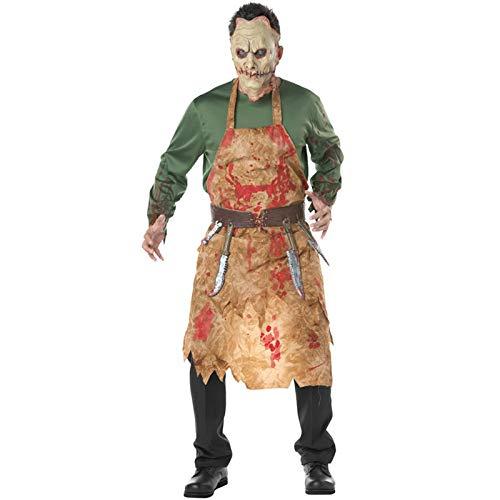 Shi18sport Halloween Kostüme Für Erwachsene Männer, Terror Blutige Metzger Kostüm Carnaval Man's Chef Kleidung, ()