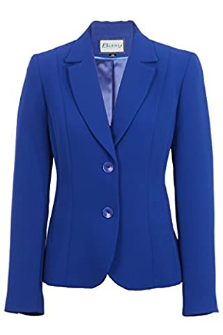 Busy Clothing Womens Royal Blue Suit Jacket - Size 10