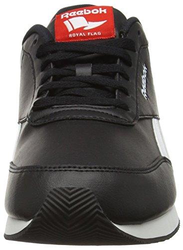 Reebok Royal CL Jog 2l, Chaussures de Sport Homme Noir (Black/White/Riot Red)