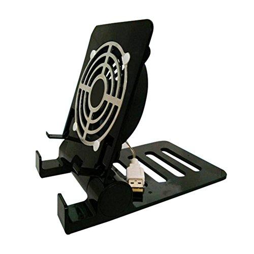 Huang Dog-shop Leise Notebook-Kühler Cooling Pad Ständer mit Leicht & Platzsparend Design Tablett Halter Halterung für Alle Marken von Handys und Tablet (Tablet-cooling Pad)