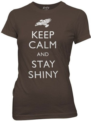 Firefly - - Frauen Bleib 'ruhig And Stay Shiny T-Shirt in der Farbe Braun Mehrfarbige