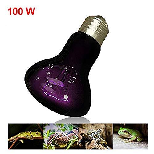 RBTT Reptile Heizlampe dauerhaft explosionsgeschützte UVB fördert die Kalziumaufnahme Sonnenlicht Winter Dämmstoffe Eidechse Schildkröte Chamäleon Gecko mit Stativ,100w