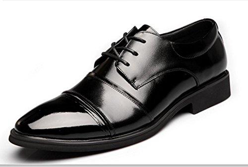 WZG trois communes rondes hommes chaussures affaires chaussures Les nouveaux hommes chaussures basses chaussures respirant chaussures casual chaussures en cuir noir , black , 40