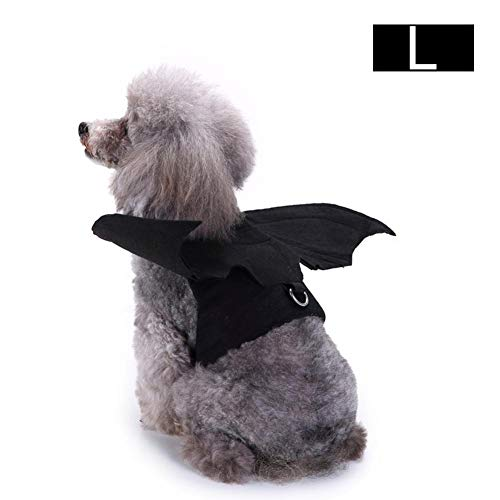 supertop Pet Dog Clothing, Costume Co Halloween Classics Collection Costume per animali, Ali di pipistrello, L