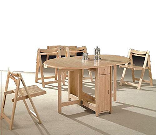 ShopWeb – Set Tavolo in legno massello pieghevole – 4 Sedie ...