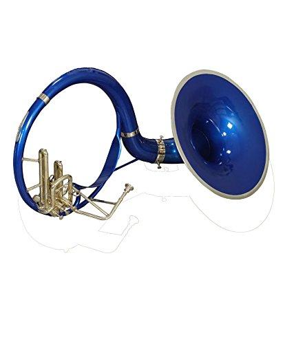 An-Nasir Ali Sousaphon B-flach 53,3cm Bell Tuba blauen und Messing Finish W/MP