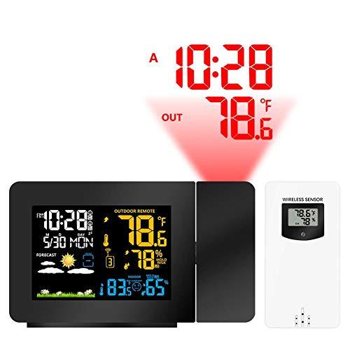 Despertador De Proyección Digital Sensor Al Aire Libre, Reloj del Proyector En El Techo con Pantalla...