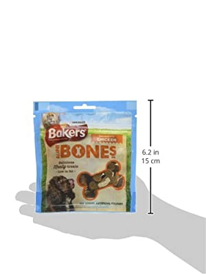 Bakers Mini Bones Dog Treat Chicken, 94 g - Pack of 6