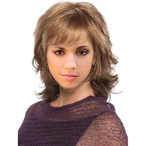 Sexy Kurze Lockige Frisuren (Hupoop Kurze Haare für Frauen sexy Frauen Mädchen Perücken wellig lockig synthetische Mode Fake Fever)