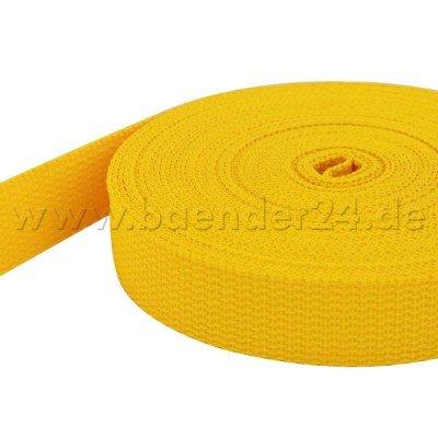 10m PP Gurtband - 40mm breit - 1,4mm stark - gelb (UV)