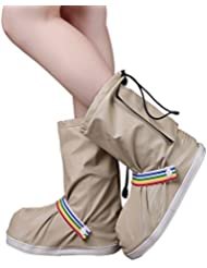 BAINASIQI Unisex Regenüberschuhe Regenfüßlinge wasserdicht Regen Schuhe Flache Regen Überschuhe Schuhüberzieher Outdoor Rutschfester Überziehschuhe Cover (upgrade Version)