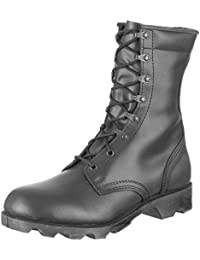 Army Speed Lace Black Leather Combat Cadet Military Mens Hi-Leg Boots Size 5