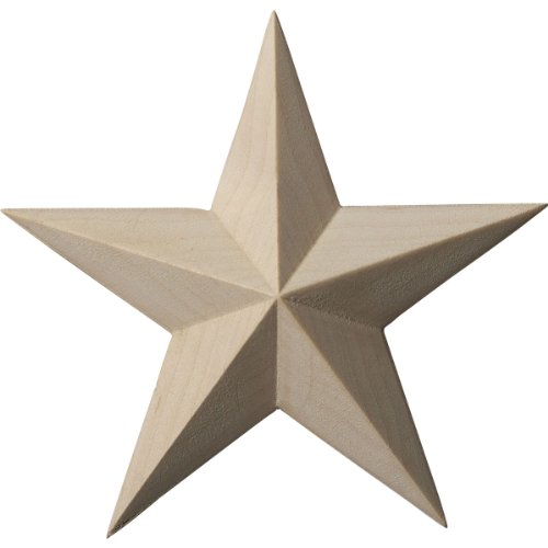 ekena Millwork ros04X 04glal Galveston Star Rosette, ROS04X04GLMA