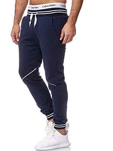 OneRedox Herren Jogging Hose Jogger Streetwear Sporthose Modell 1316 Navy M