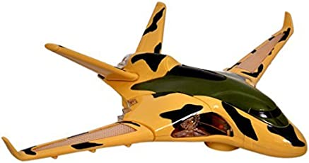 Toyshine Musical Army Aeroplane Toy, Bump And Go Action, Lights And Music - Multi Color