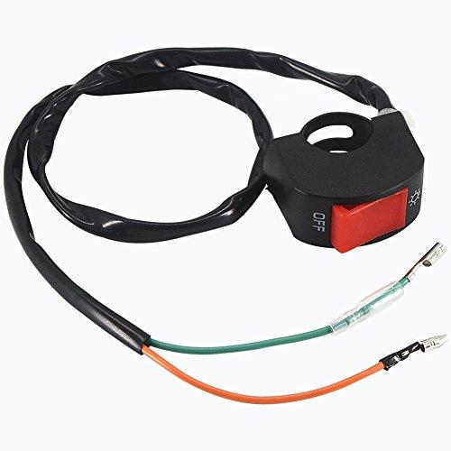 """Interruttore Luci Moto Manubrio 7/8\""""universale blocchetto elettrico Interruttore di luci nebbia fari DC 12V moto"""