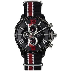Ross Rino 20. Edition Sport Unisex Quarzuhr mit schwarzem Zifferblatt Analog-Anzeige und schwarz Edelstahl Armband
