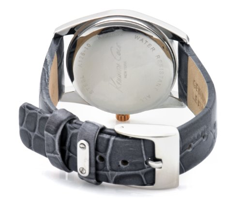 Kenneth Cole Ladies Grey Leather Strap Watch Kc2632