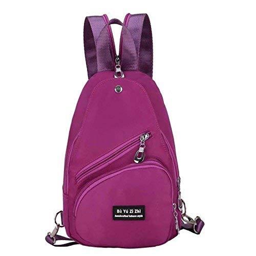 PU Leder Rucksack Casual Daypack Frauen/Mädchen Violett (Farbe : -, Größe : -)