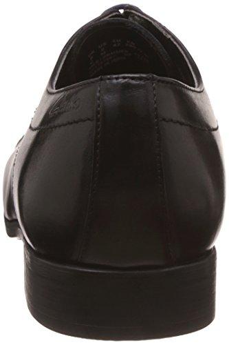 Clarks Banfield Cap Herrenschuhe formale in schwarz Leder Schwarz