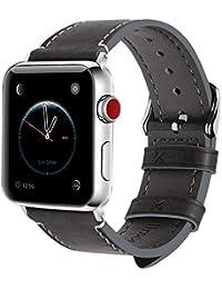e75f0a111c Fullmosa Compatibile Cinturino per Apple Watch 38mm/40mm e 42mm/44mm, 8  Colori Wax Cinturino per iwatch Pelle,…