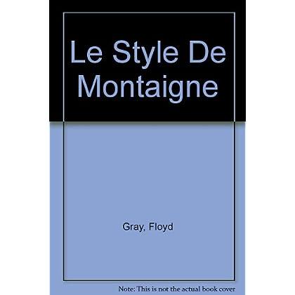 Le Style De Montaigne