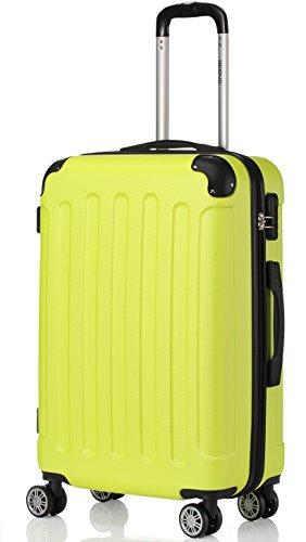 BEIBYE 2045 Hartschale Koffer Kofferset Trolley Reisekoffer Größe XL-L-M in 12 Farben (Grün, XL)