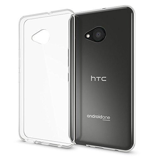 NALIA Handyhülle kompatibel mit HTC U Play, Ultra-Slim Soft TPU Silikon Case Cover Crystal Clear Schutzhülle Dünn Durchsichtig, Etui Handy-Tasche Backcover Skin Smart-Phone Hülle Bumper - Transparent