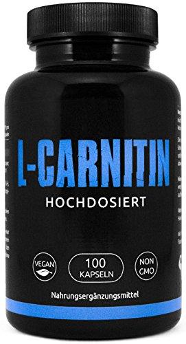 GYM - NUTRITION PREMIUM L-CARNITIN 2000 | Hochdosiert | Für Die Definitionsphase und Diät | Fatburner | Fettverbrennung | Regeneration | 100 Kapseln | Vegan & Halal | Made in Germany