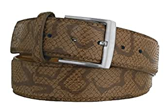 "EyeCatch - Forest Mens Genuine Leather Belt Tan Large 36-40"""