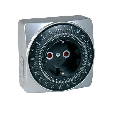 uniTEC 44018 SILVER-LINE Tageszeitschaltuhr, analog, für Innenbereich von Unitec - Lampenhans.de